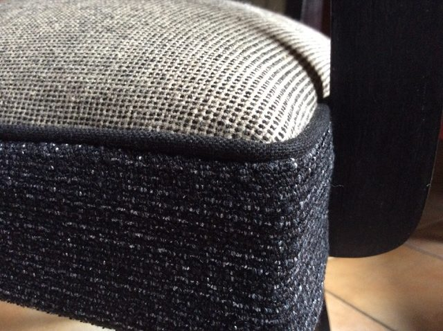 Détail fauteuil bridge - Tissu : Casal Aqua clean