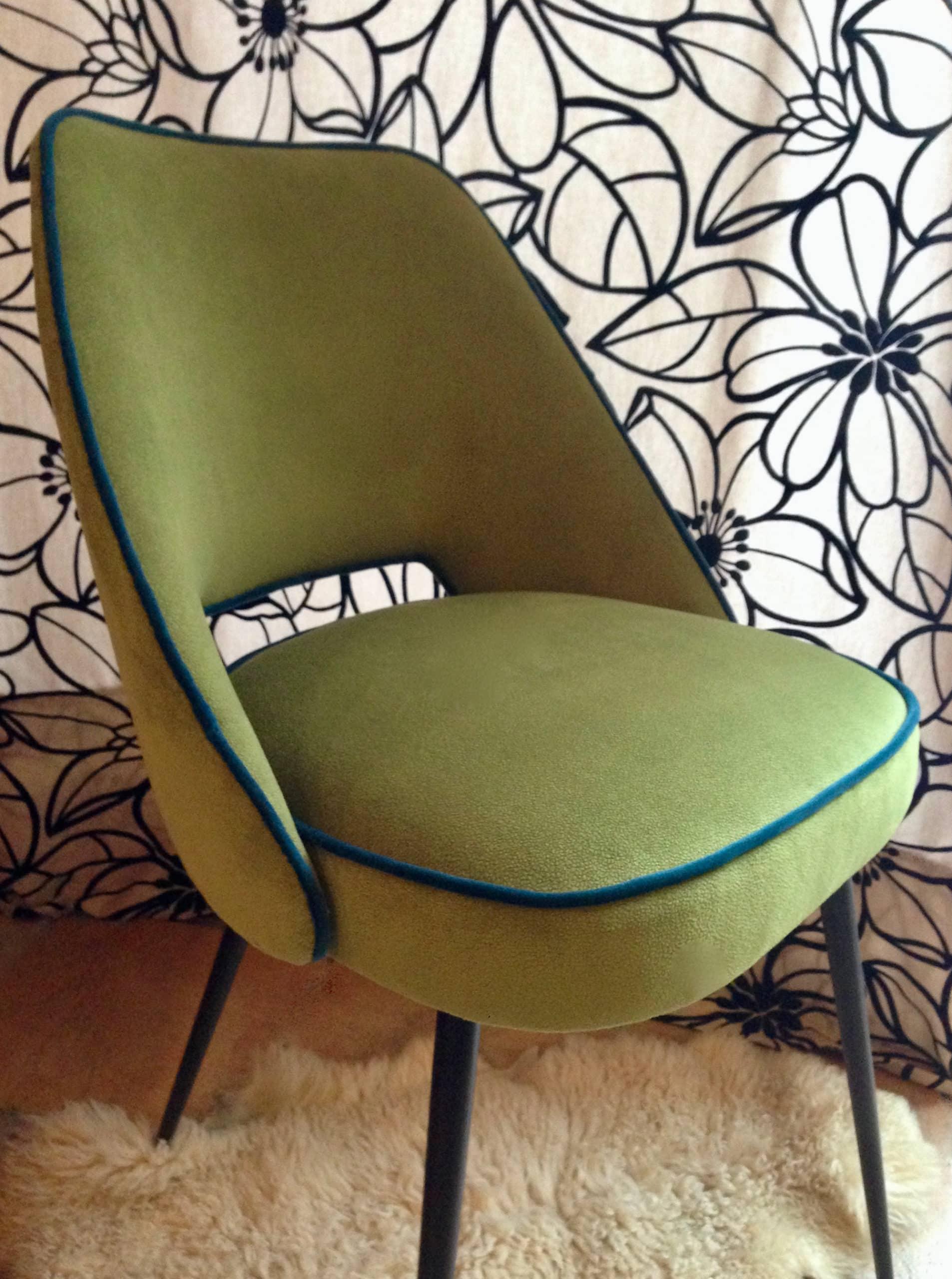 Chaise fauteuil Guariche design années 50-60