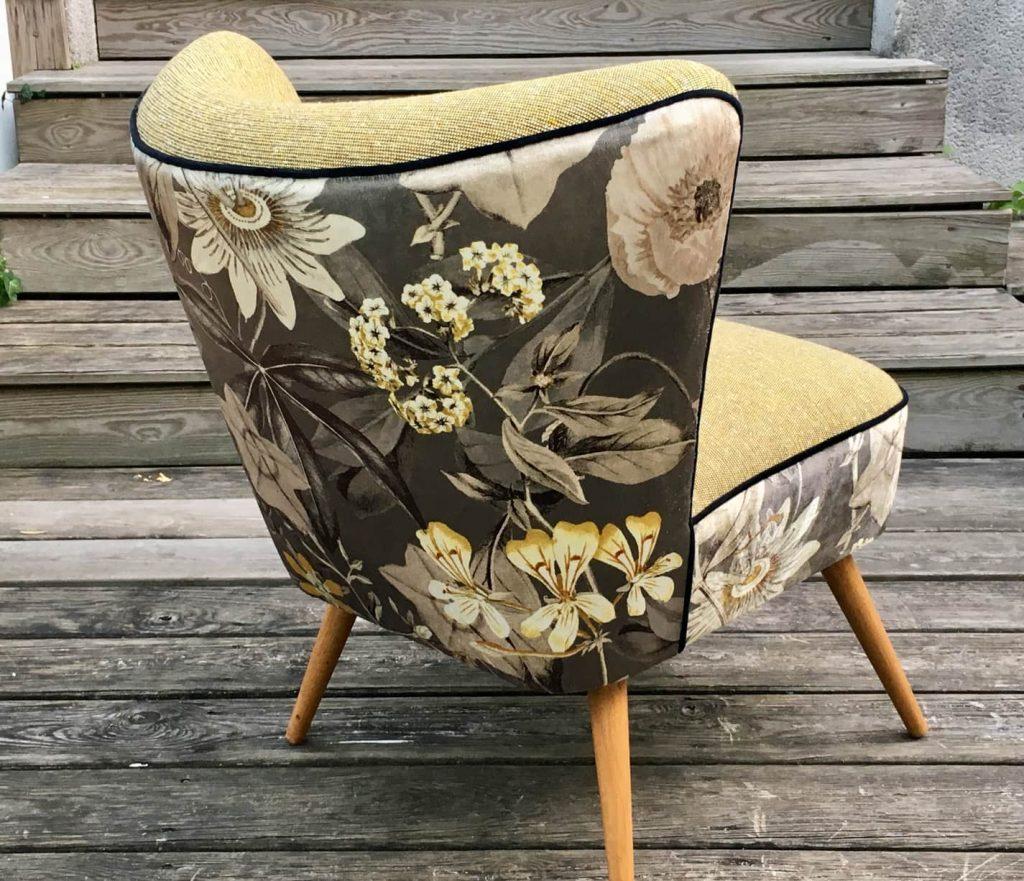 Nos chairs fauteuils - Fauteuil cocktail années 50 de dos