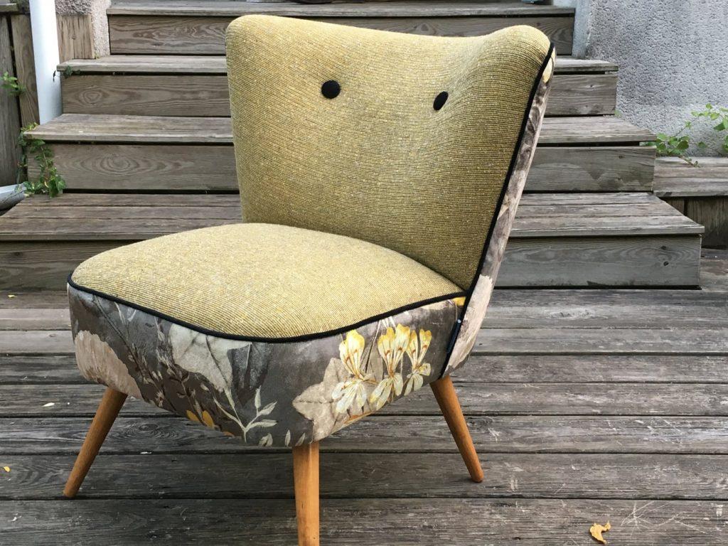 Nos chairs fauteuils - Fauteuil cocktail années 50 de face